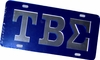 TBS Letter License Plate