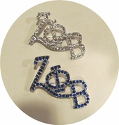 Zeta Fun Letter Bling Pin