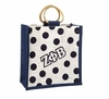 Zeta Polka Dot Mini Jute Bag