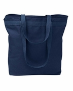 Zippered Color Tote