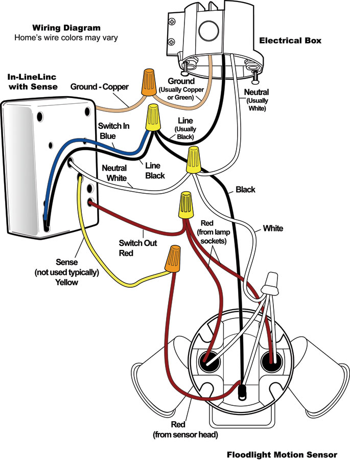 heath motion sensor lights wiring diagram