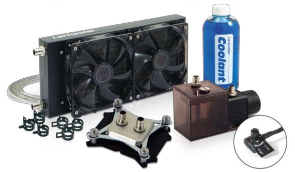 Computer Cooling System : Larkooler skywater pc liquid cooling system