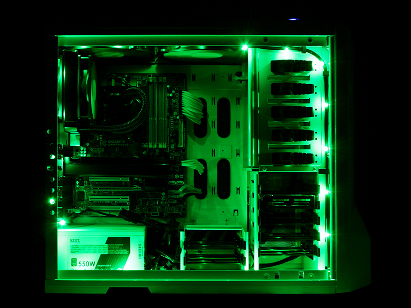 NZXT Premium Sleeved LED Kit (1 meter) - Green  sc 1 st  Xoxide.com & Premium Sleeved LED Kit (1 meter) - Green azcodes.com