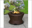 San Simeon Chat Fire Pit Brown