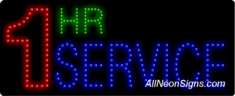 1 Hr Service LED Sign