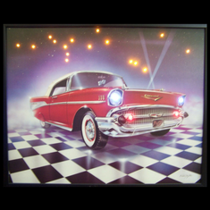57 CHEVY LED POSTER
