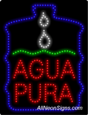 Agua Pura LED Sign