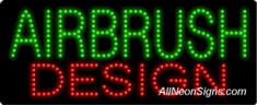 Airbrush Design LED Sign