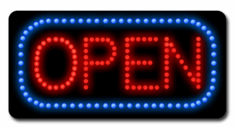 Animated LED Italic Open Sign-Made in the U.S.A