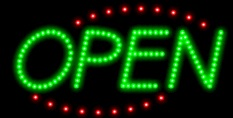 Animated LED OPEN Sign-Deco Style-ASSEMBLED in the U.S.A