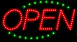 Animated LED OPEN Sign-Deco Style-Made in the U.S.A