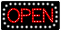 Animated LED OPEN Sign-Horizontal Style-Made in the USA