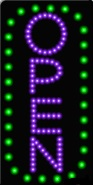 Animated LED OPEN Sign-Vertical Style-ASSEMBLED in the U.S.A