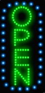 Animated LED OPEN Sign-Vertical Style-Made in the USA