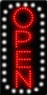 Animated LED OPEN Sign-Vertical Style -ASSEMBLED in the USA