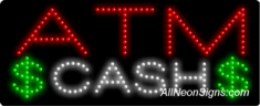 ATM Cash LED Sign