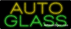 Auto Glass LED Sign