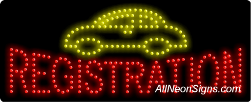 Auto Registration LED Sign