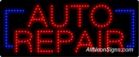 Auto Repair LED Sign