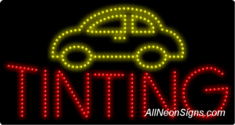 Auto Tinting LED Sign