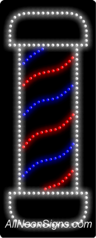 Barber logo (vertical) LED Sign