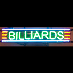 BILLIARDS NEON SIGN BIG