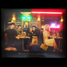 BLUE PLATE NEON/LED PICTURE