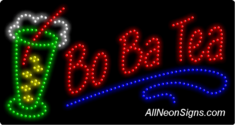 Bo Ba Tea LED Sign