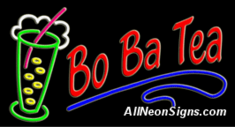 Bo Ba Tea Neon Sign