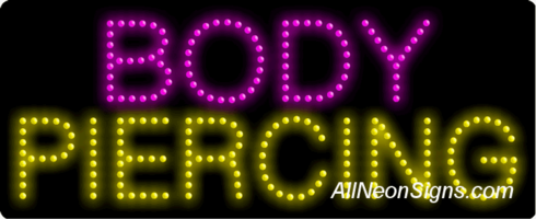 Body Piercing LED Sign
