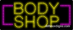 Body Shop LED Sign