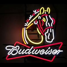 BUDWEISER CLYDESDALE NEON SIGN