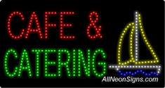 Caf� & Catering LED Sign