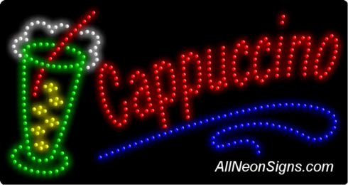 Cappuccino (ice cup) LED Sign