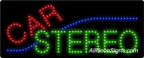 Car Stereo LED Sign