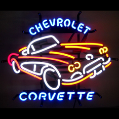 CHEVROLET CORVETTE C1 NEON SIGN