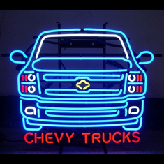 CHEVY TRUCKS NEON SIGN