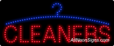 Cleaners, Logo LED Sign