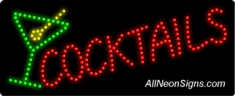 Cocktails, Logo LED Sign