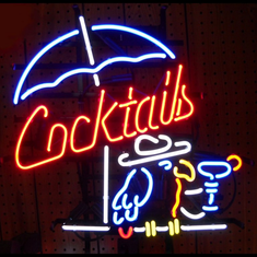 COCKTAILS & PARROT NEON SIGN