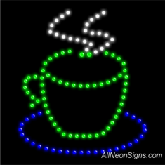 Coffee Cup Logo LED Sign