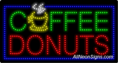 Coffee & Donuts LED Sign