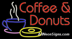 Coffee & Donuts Neon Sign
