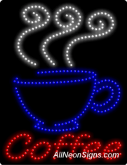 Coffee (vertical) LED Sign