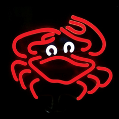 CRAB NEON SCULPTURE