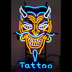 DEVIL TATTOO NEON SIGN
