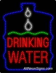 Drinking Water LED Sign