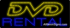 DVD Rental LED Sign