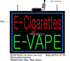 E-Cigarettes E-Vape Neon Sign