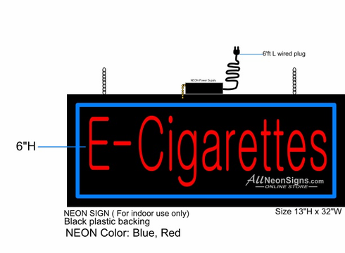 E-Cigarettes Neon Sign